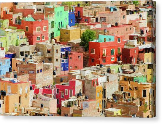Canvas Print featuring the photograph Guanajuato 3, Mexico. by Rob Huntley