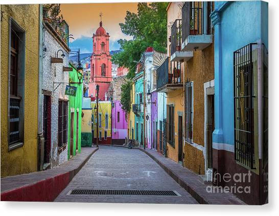 Guanajuato Canvas Print - Guanajuato Backstreet by Inge Johnsson