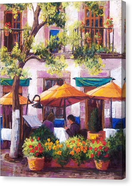 Guanajuato Cafe Canvas Print by Candy Mayer
