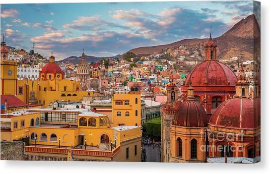 Guanajuato Canvas Print - Guanajuato City Panorama by Inge Johnsson