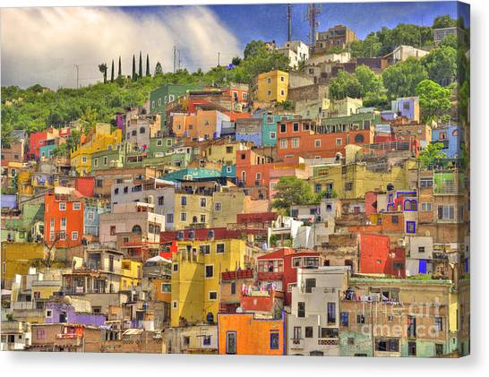 World Heritage Site Canvas Print - Guanajuato Hillside by Juli Scalzi