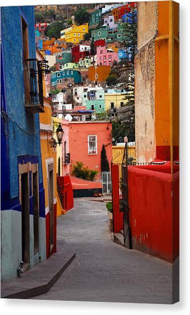 Guanajuato Lane Canvas Print