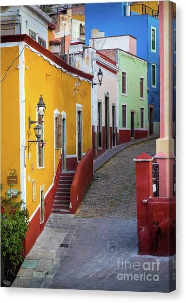 Guanajuato Canvas Print - Guanajuato Street by Inge Johnsson