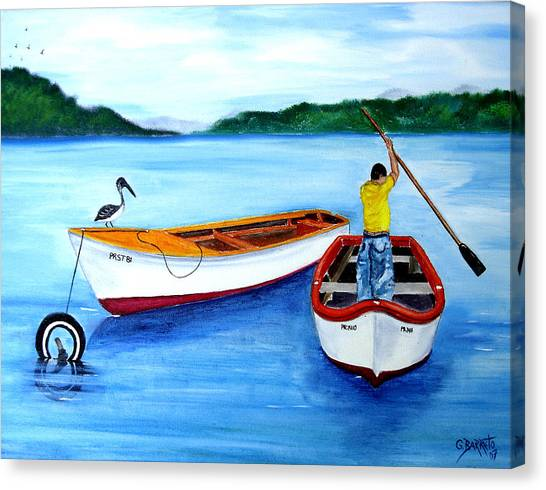 Guanica Fisherman Canvas Print