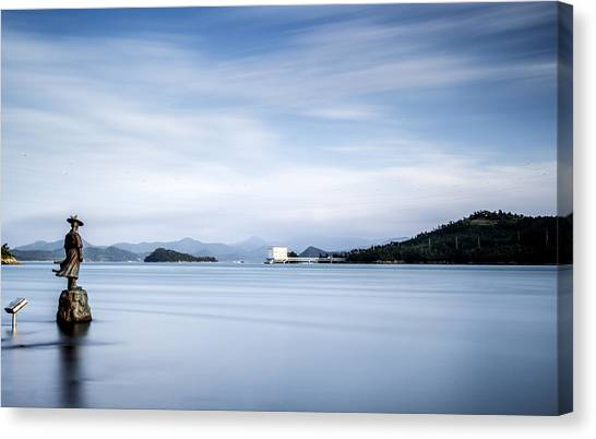 Guard Of Jindo Canvas Print