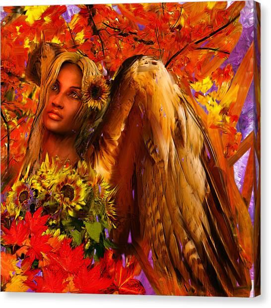 Angel Falls Canvas Print - Guardian Angel/autumn by Suzanne Silvir