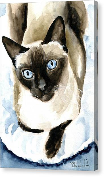 Guardian Angel - Siamese Cat Portrait Canvas Print