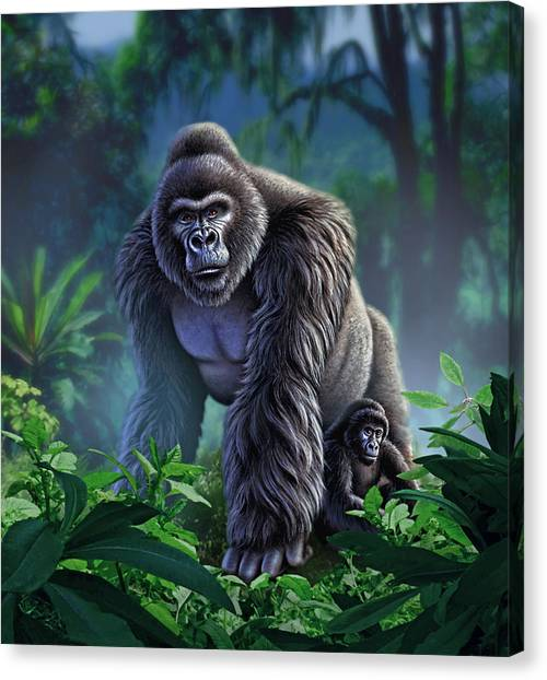 African Canvas Print - Guardian by Jerry LoFaro