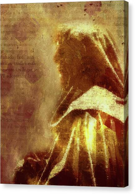 Religious Art Canvas Print - Guardian Of Your Heart by Georgiana Romanovna
