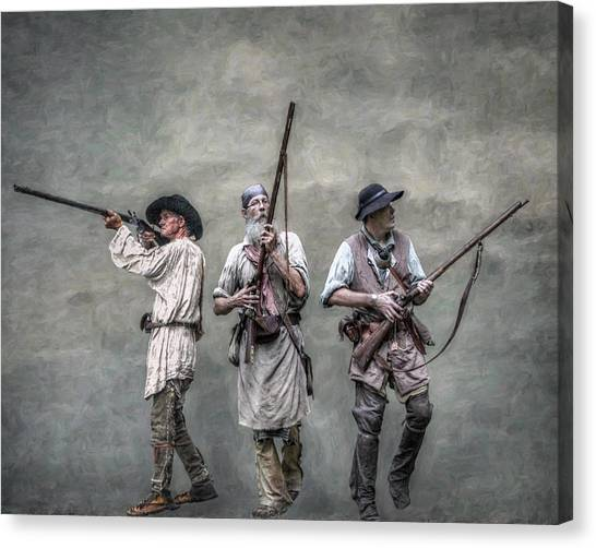 Woodsmen Canvas Print - Guardians Of The Frontier by Randy Steele