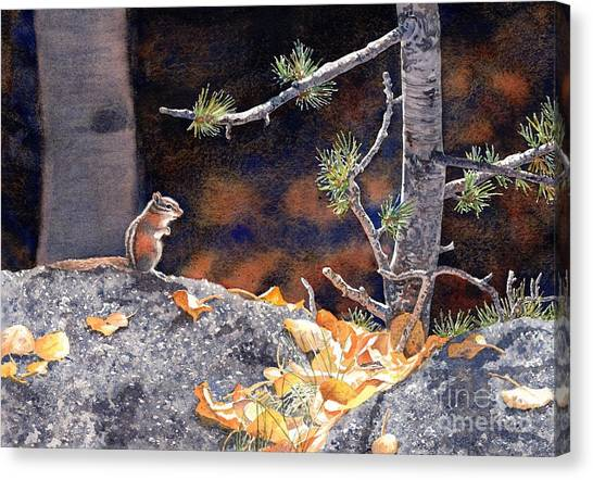 Guarding The Gold Canvas Print by Lorraine Watry