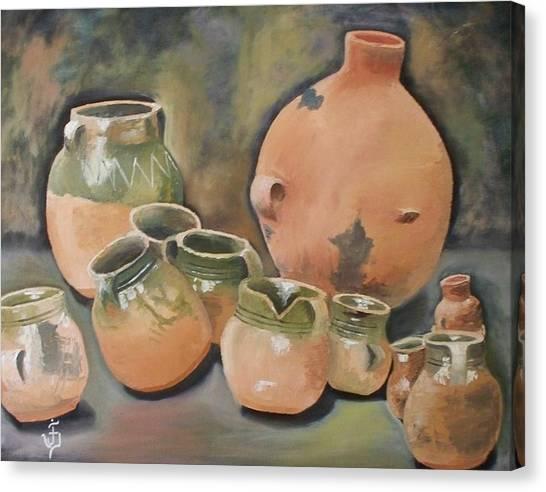 Guatemala Ceramic Pots  Canvas Print by Jose Velasquez