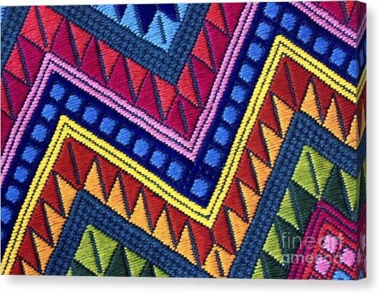 Guatemala Colorful Abstract Photograph - Guatemalan Diamonds  Canvas Print