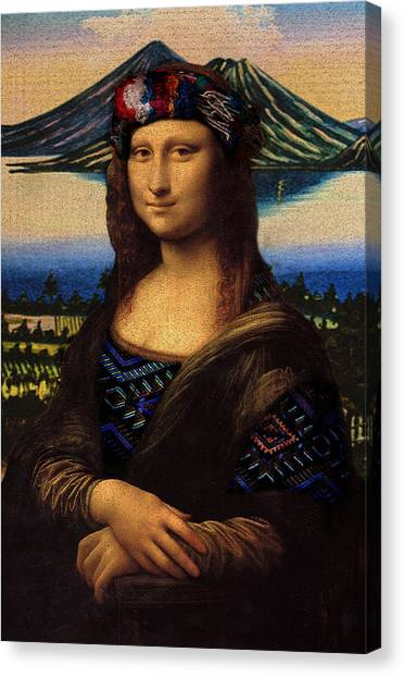 Rennaissance Art Canvas Print - Guatemalan Mona Lisa by Totto Ponce