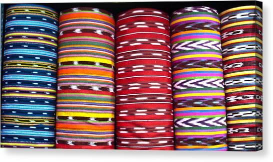 Guatemalan Textiles 2 Canvas Print