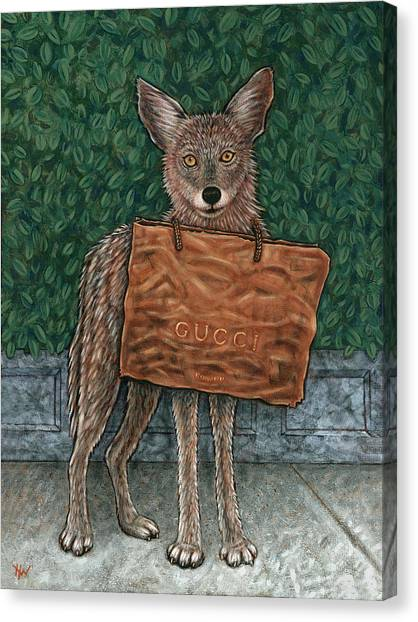 Gucci Coyote Canvas Print