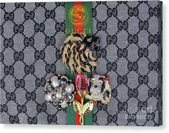 Jimmy Choo Canvas Print - Gucci With Jewelry by To-Tam Gerwe