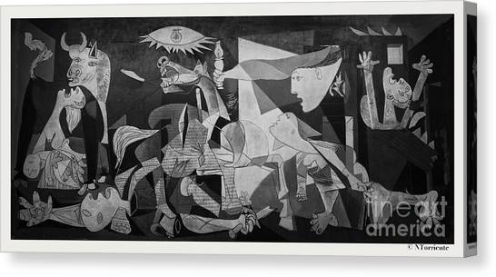 F 38 Guernica Photo  Canvas Print by Norberto Torriente
