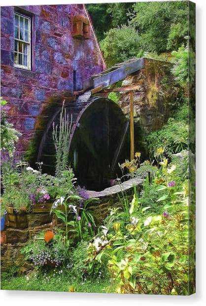 Guernsey Moulin Or Waterwheel Canvas Print