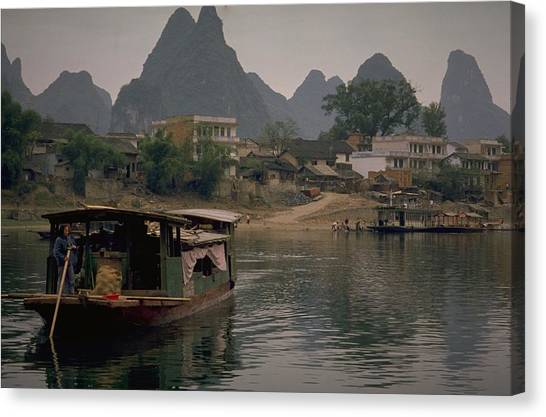 Michel Guntern Canvas Print - Guilin Limestone Peaks by Travel Pics