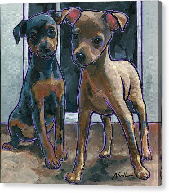 Canvas Print - Guinness And Bailey by Nadi Spencer