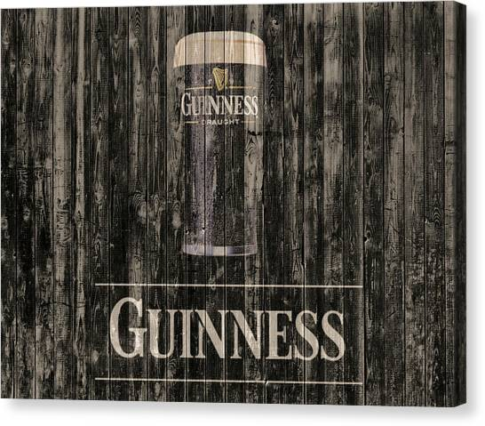 St Patrick Day Canvas Print - Guinness by Dan Sproul