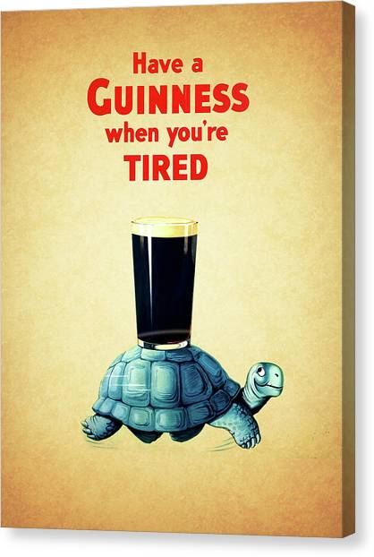 Beer Canvas Print - Guinness When You're Tired by Mark Rogan