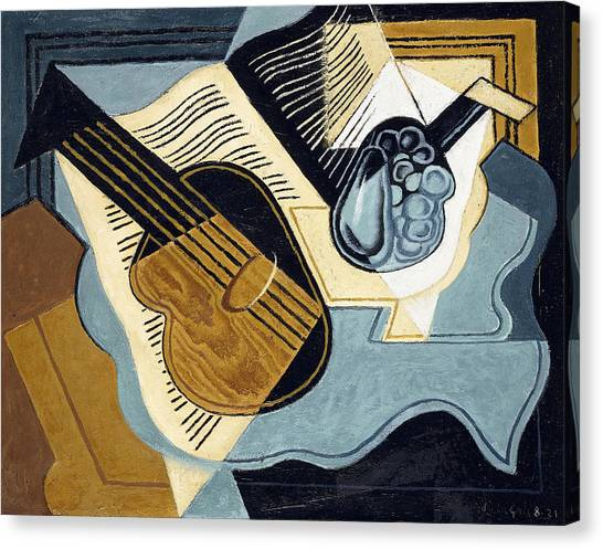 Pablo Picasso Canvas Print - Guitar And Fruit Bowl by Juan Gris