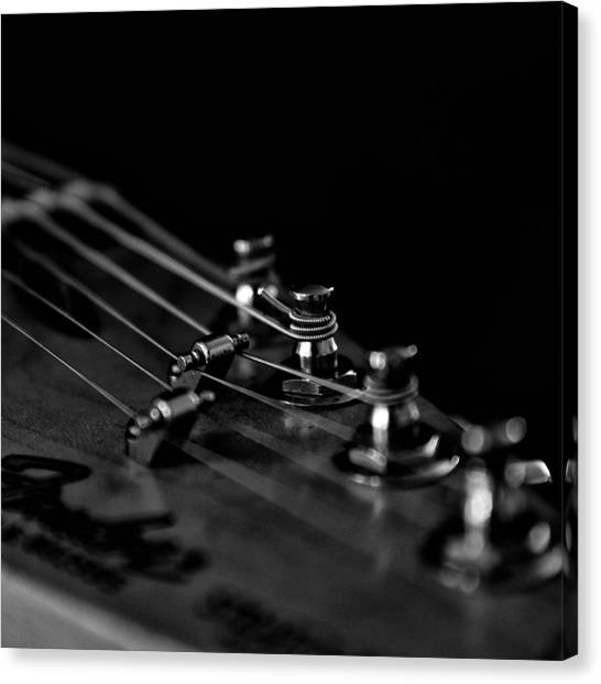 Classical Guitars Canvas Print - Guitar Close Up 1 by Stelios Kleanthous
