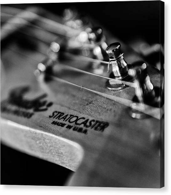 Classical Guitars Canvas Print - Guitar Close Up 3 by Stelios Kleanthous