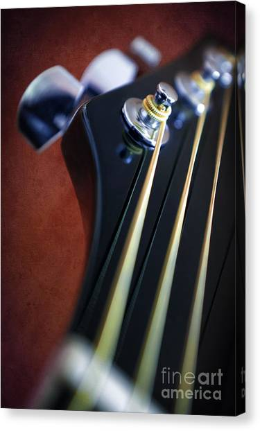 Classical Guitars Canvas Print - Guitar Head Stock by Carlos Caetano