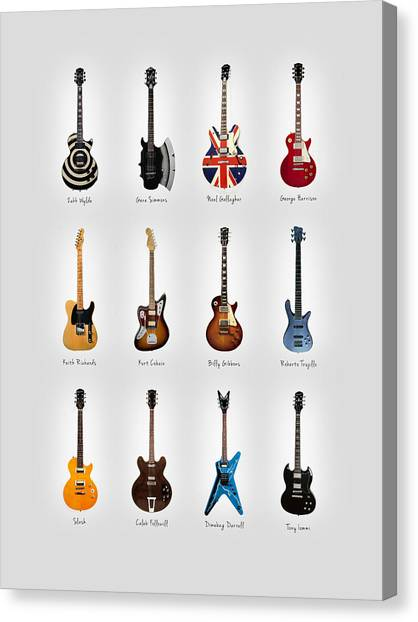 Stratocasters Canvas Print - Guitar Icons No3 by Mark Rogan