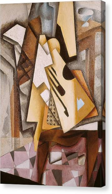 Pablo Picasso Canvas Print - Guitar On A Chair by Juan Gris