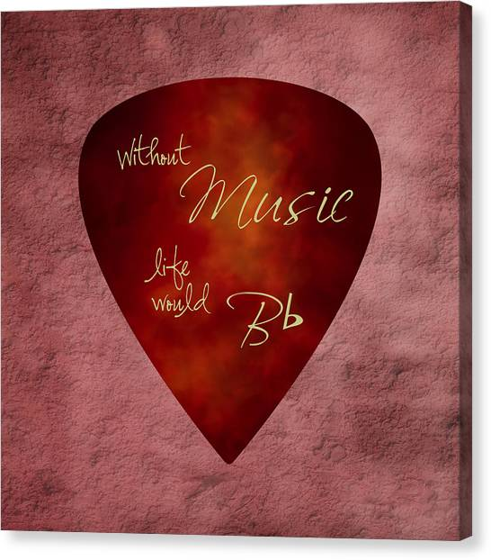 Guitar Picks Canvas Print - Guitar Pick - Without Music by Tom Mc Nemar