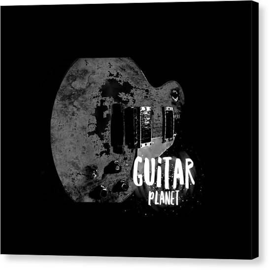 Canvas Print featuring the photograph Guitar Planet  by Guitar Wacky