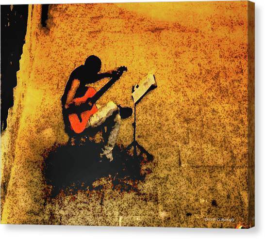 Guitar Player In Arles, France Canvas Print