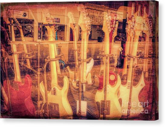Guitar Reflections Canvas Print