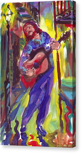 Guitar Solo Canvas Print by Saundra Bolen Samuel