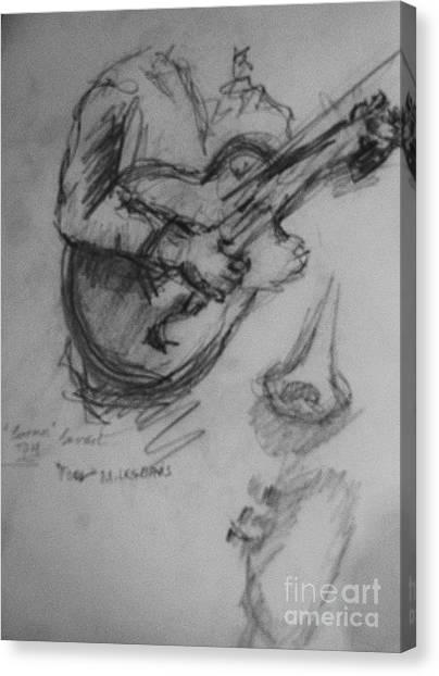 Guitarist Canvas Print by Jamey Balester