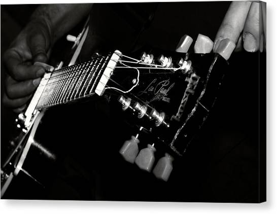 Rocker Canvas Print - Guitarist by Stelios Kleanthous