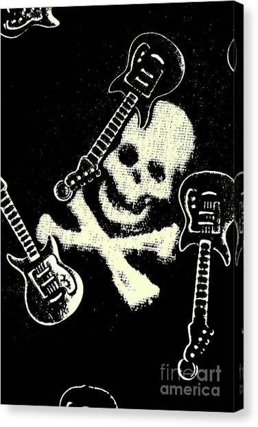 Gothic Art Canvas Print - Guitars Of Black Metal by Jorgo Photography - Wall Art Gallery