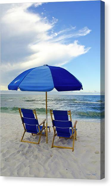 Gulf Coast Beach Oasis Canvas Print