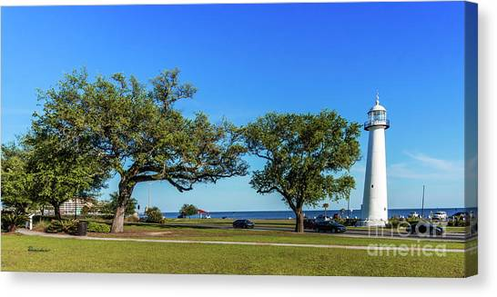 Gulf Coast Lighthouse Seascape Biloxi Ms 3663b Canvas Print