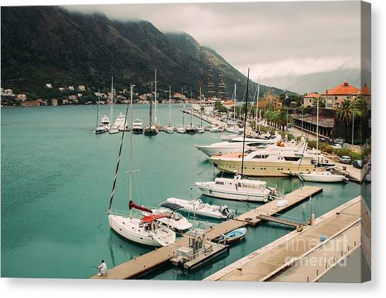 Gulf Of Kotor Canvas Print