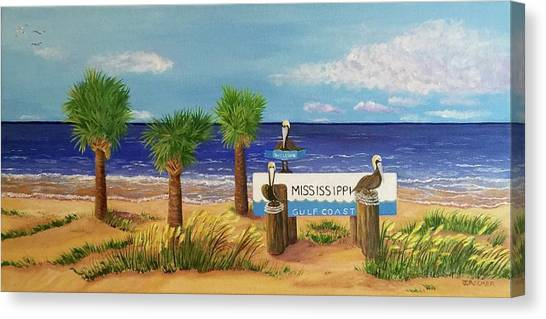Gulf Shore Welcome Canvas Print