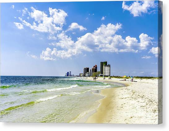 Gulf Shores Al Beach Seascape 1746a Canvas Print
