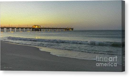 Gulf Shores Alabama Fishing Pier Digital Painting A82518 Canvas Print