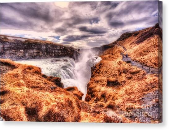 Gulfoss Waterfall Iceland 2nd Tier Canvas Print