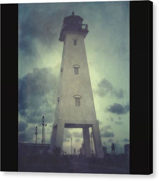Lighthouses Canvas Print - Gulfport Lighthouse #stackablesapp by Joan McCool