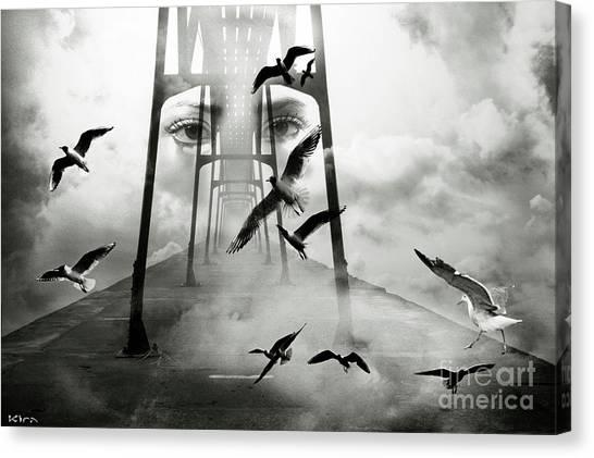 Gull Bridge Canvas Print